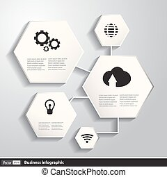 Vector business infographics with geometric shapes