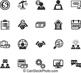 Vector Business Management Icons Se