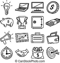 Vector business pictogram