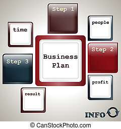 vector business plan template