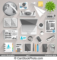 Vector business style. set 1