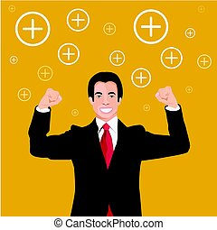 Vector - Businessman Positive thinking.
