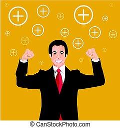 Vector - Businessman Positive thinking.