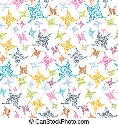 Vector Butterflies Seamless Background