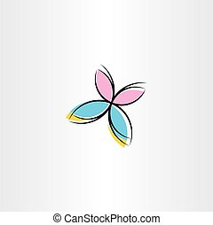 vector butterfly icon clipart design
