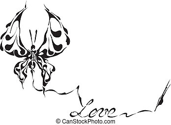 Vector- butterfly made in eps
