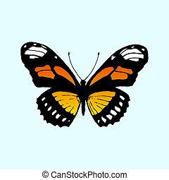 Vector butterfly Monarch. Butterfly Danaus plexippus