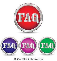 Vector button Faq