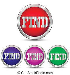 Vector button FIND