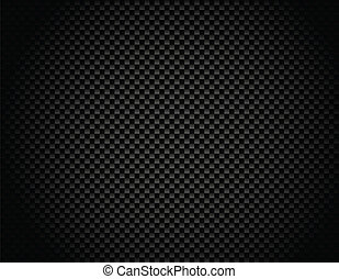 Vector Button on Carbon Fiber Background. Eps10!
