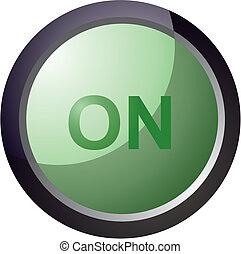 vector button on green color