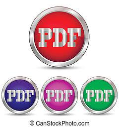 Vector button PDF