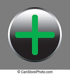 Vector button - plus