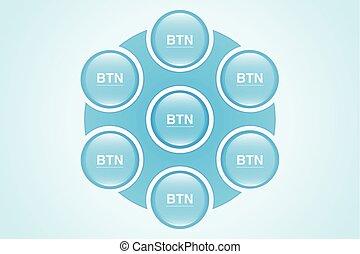 Vector Button Set