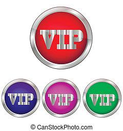 Vector button VIP