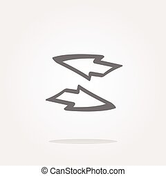 vector Button web icon with arrow set