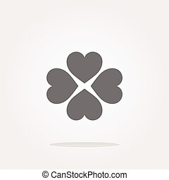 vector button with heart set sign, icon isolated on white
