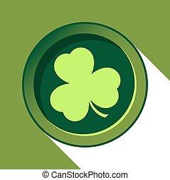 button with light green shamrock