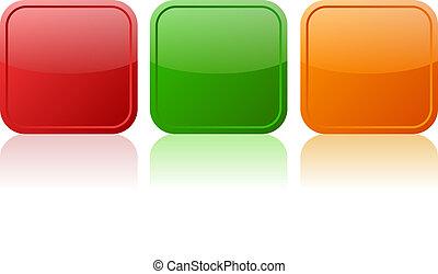 Vector buttons - Blank vector buttons set