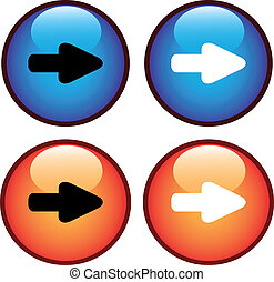 Vector buttons with arrow