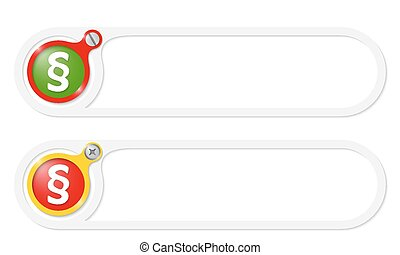 vector buttons with screw and paragraph