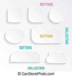 Vector buttons with shadows
