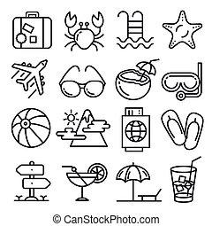 vector, círculo, líneas, ilustración
