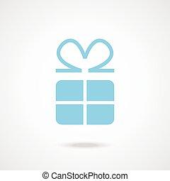 vector, cadeau, pictogram