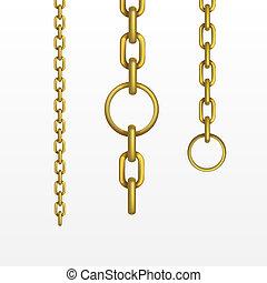 vector, cadena de oro
