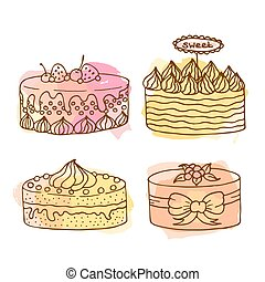 Vector cake illustration.