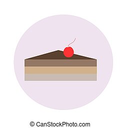 Vector cake illustration on a white background