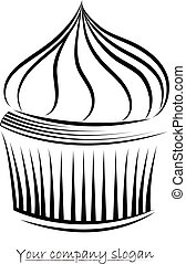 Vector Cakes icon on a white background.