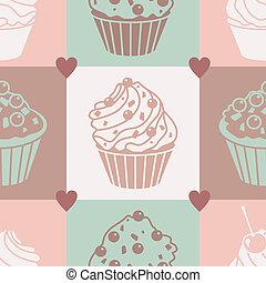 cakes pastel pattern