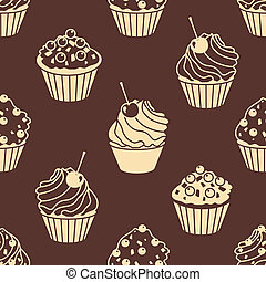 cakes silhouettes pattern