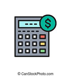 Vector calculator, bookkeeping, accounting, economy flat...