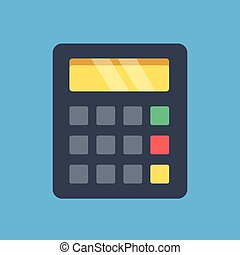 Vector calculator icon. Flat design