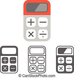 Vector calculator icon,flat design