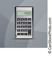 Vector calculator on gray stylish background