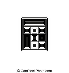 Calculator icon vector isolated design  business button illustration