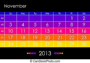 Vector calendar 2013 - November