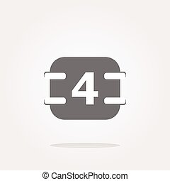 vector calendar button (icon) over white background