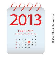 vector calendar - february 2013
