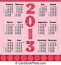 Vector calendar for 2013 year