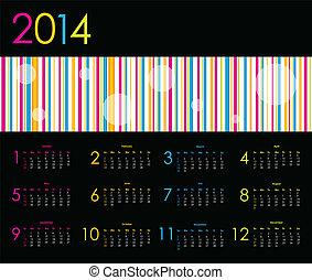 Vector calendar for 2014
