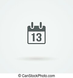 Vector calendar icon. Illustration. Simple flat design style