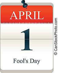 Calendar of Fools day