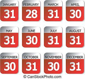 Vector calendars