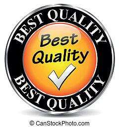 vector, calidad, mejor, icono