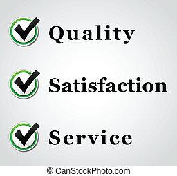 vector, calidad, servicio, concepto