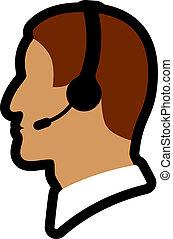 vector call center person icon